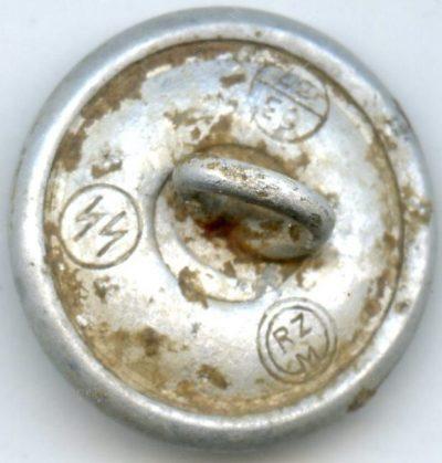 Пуговица СС алюминиевая диаметром 20 мм.