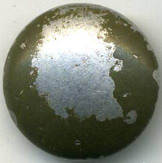 Кительная пуговица для Вермахта французского производства, изготовленная из алюминия диаметром 20 мм.