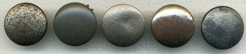 Кительные пуговицы Вермахта диаметром 21 мм из различного материала, окраса и вида ушек.