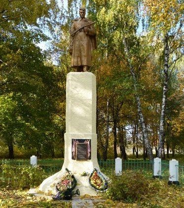 с. Мачехи Полтавского р-на. Памятник, установленный на братской могиле воинов, погибших в боях за село.
