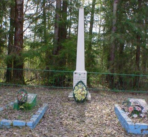 д. Сопоть Бельского р-на. Памятник, установленный на братской могиле, в которой похоронено 58 советских воинов.