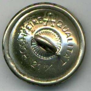 Пуговица для мундира в полевом окрасе диаметром 21 мм.