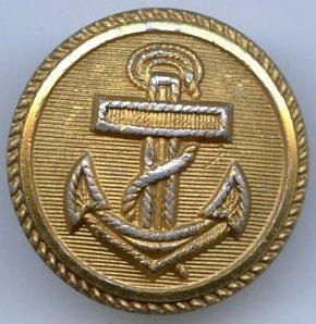 Пуговица Кригсмарине диаметром 21 мм из алюминия, крашенная.