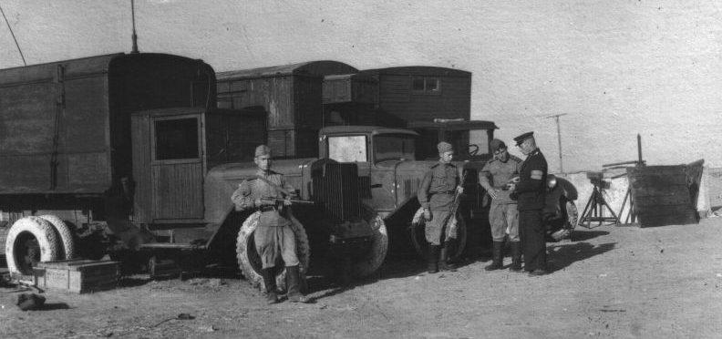 Военный аэродром в Черновцах. 1945 г.