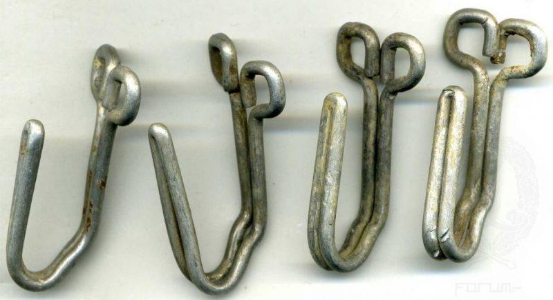 Комплект крюков для поддержки ремня из алюминия.