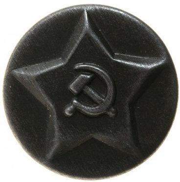 Пуговицы на китель/тужурку/шинель НКВД образца 1934 года диаметром 23 мм, изготовленная из латуни.