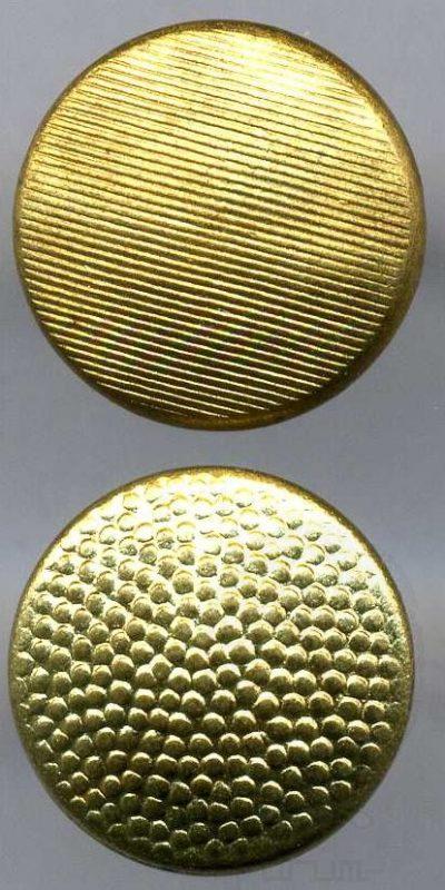 Пуговицы-кламмеры на генеральскую униформу с разной шагренью, диаметр 12 мм.