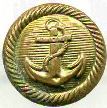 Пуговица-кламмер на офицерскую фуражку Кригсмарине диаметром 13 мм.