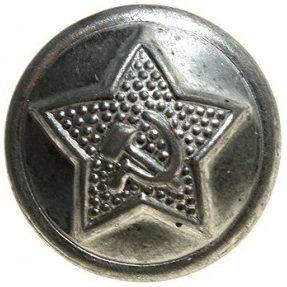 Пуговицы из белой стали образца 1943 года диаметром 14 мм, 18 мм и 22 мм транспортной милиции.