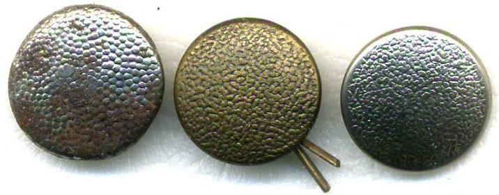 Погонные пуговицы Вермахта диаметром 16 мм, изготовленные из различного материала, окраса и крепления ушка.