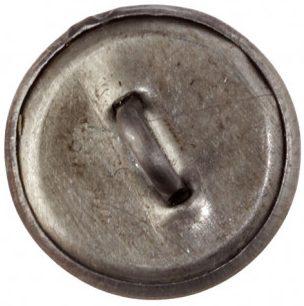 Пуговица гимнастерочная для сотрудников ГУЛАГа образца 1943 года диаметром 14 мм, 18 мм и 22 мм из латуни с белым покрытием.