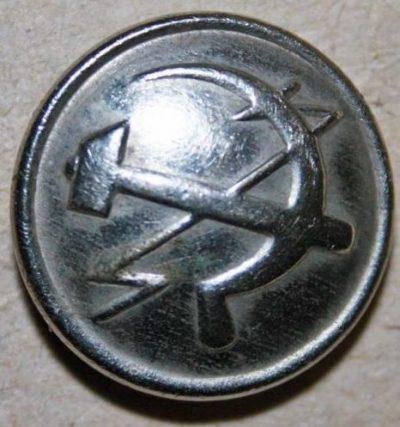 Пуговица из стали НКС образца 1934 года диаметром 22 мм.