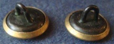 Пуговица латунная НКС образца 1934 года диаметром 12 мм.