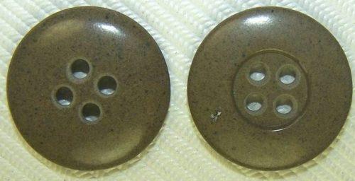 Пуговица диаметром 18-мм цвета хаки для брюк и курток.