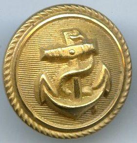 Погонная пуговица Кригсмарине диаметром 18 мм, улучшенного качества.