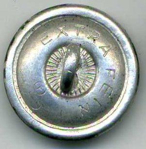 Погонная алюминиевая пуговица диаметром 18 мм в полевом окрасе.