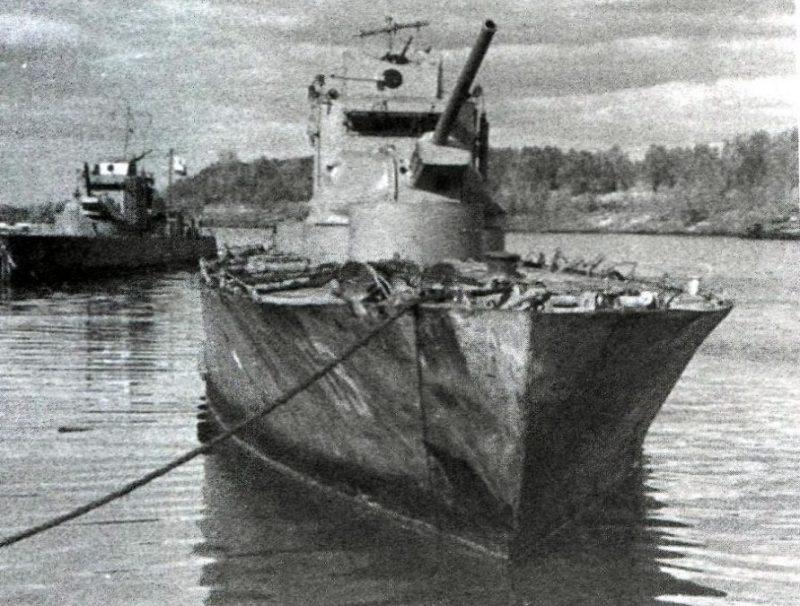 Катера Волжской военной флотилии.