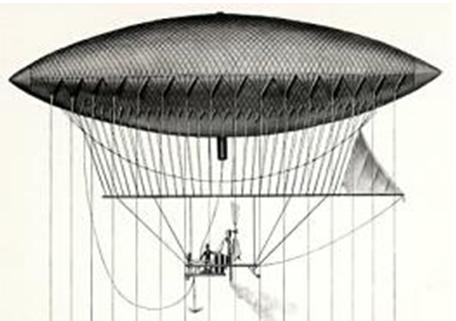 Дирижабль Жиффара, 1852 год.