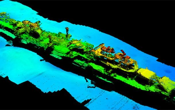 Останки крейсера Карлcруэ на морском дне.