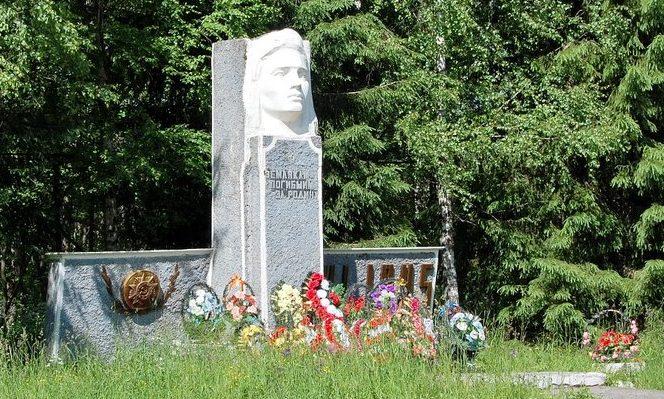 с. Лесное. Памятник, установленный на братской могиле советских воинов.