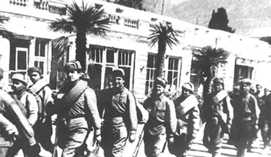 Красная Армия входит в Ялту.