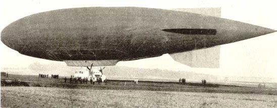 Мягкий дирижабль, 1910 е годы.
