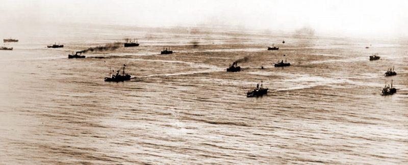 Противолодочный зигзаг конвоя в годы Первой мировой.