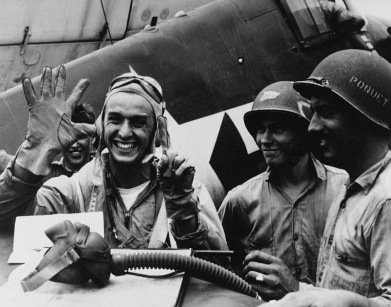 Лейтенант Александр Врачу сбил шесть японских пикирующих бомбардировщиков за один день. 19 июня 1944 года.
