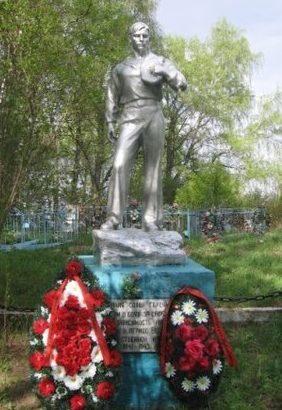 д. Бор-Волго Селижаровского р-на. Памятник, установленный на братской могиле советских воинов.