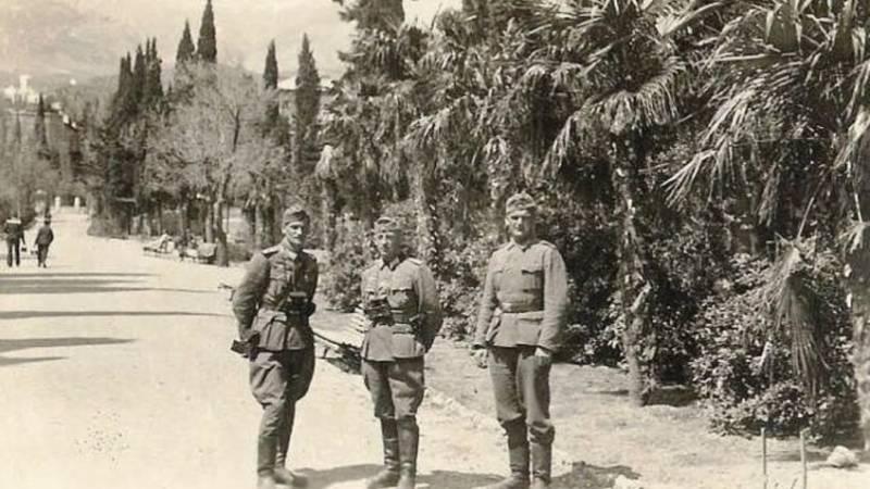 Ялта во время немецкой оккупации.