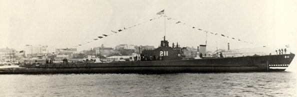 Американская подлодка «Gudgeon» (SS-211).