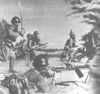 Наступление японских войск.