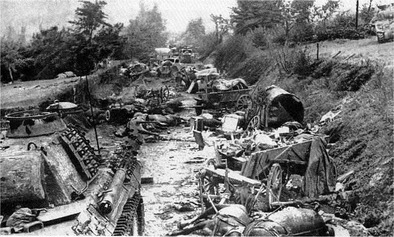 Немецкая техника, уничтоженная у Монт-Ормеля.