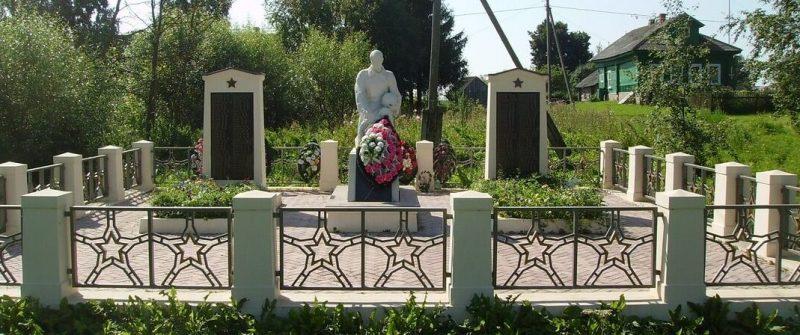 д. Дорожаево Зубцовского р-на. Памятник, установленный на воинском кладбище.