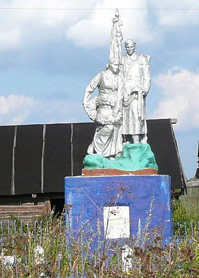 д. Соколово Селижаровского р-на. Памятник, установленный на братской могиле советских воинов.