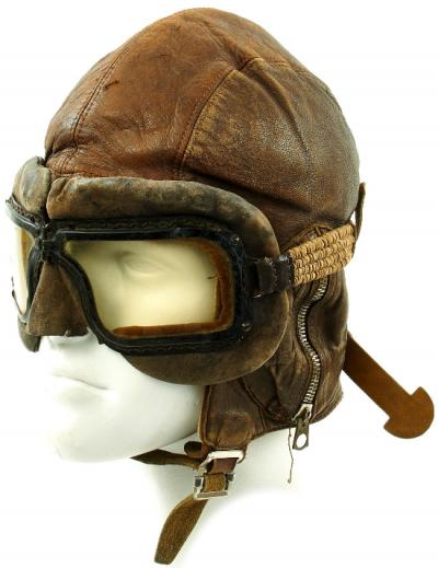 Кожаный летний шлемофон типа В образца 1940 года.