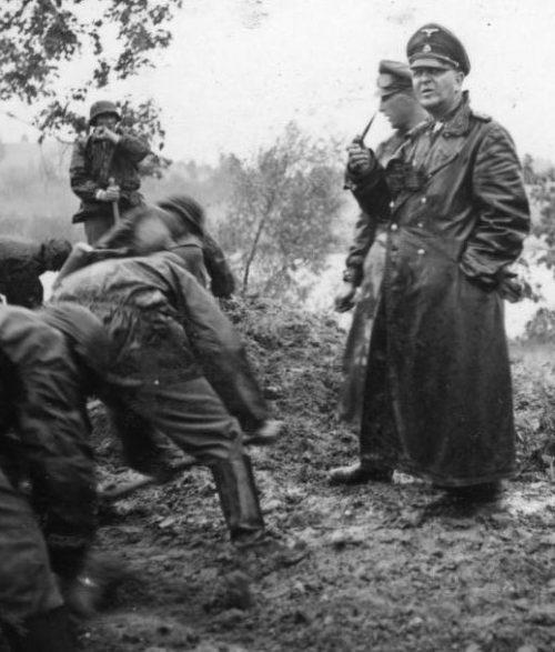 Теодор Ейке на Восточном фронте.