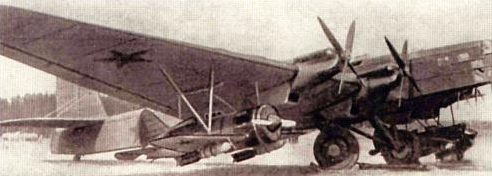 Тяжелый бомбардировщики ТБ-3 на аэродроме. 1940 г.