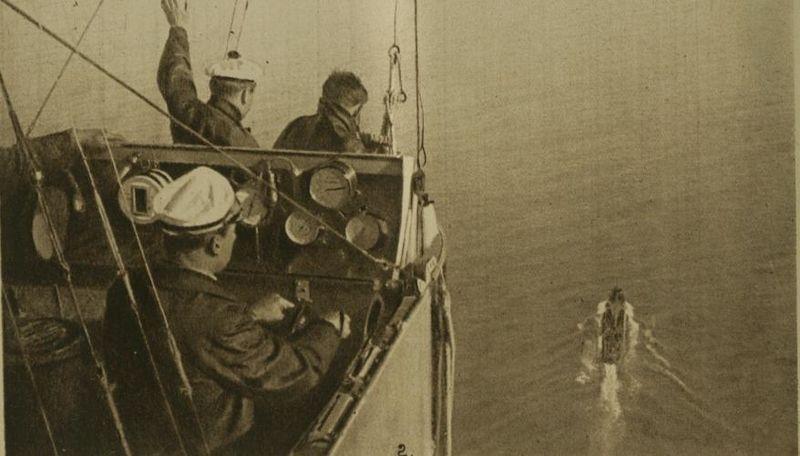 Вид из гондолы французского дирижабля. 1918 год.