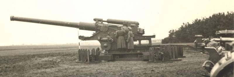 210-мм пушка образца 1939 года (Бр-17). 1940 г.