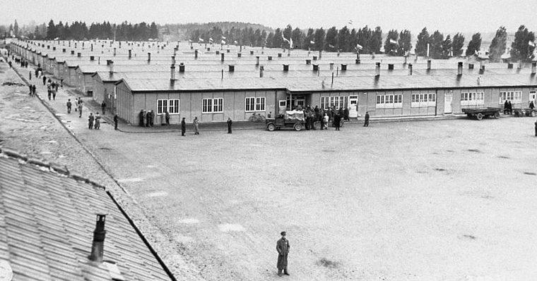 Бараки для заключенных. 1945 г.