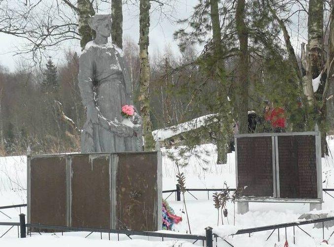 д. Выползиха Ржевского р-на. Братская могила советских воинов.