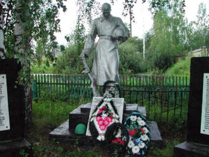 д. Карамзино Зубцовского р-на. Братская могила советских воинов.