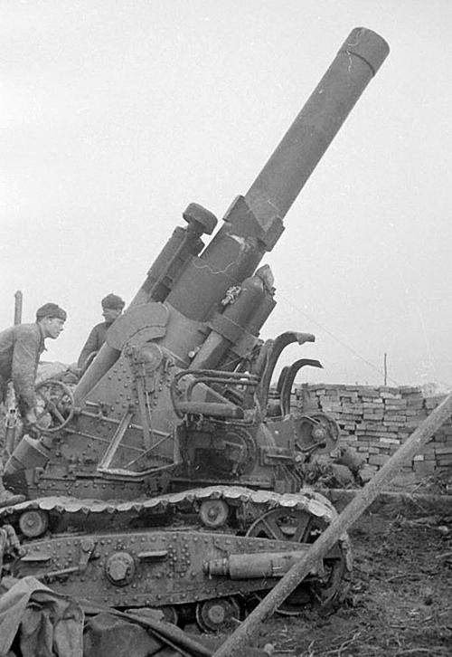 280-мм мортира Бр-5 образца 1939 года. 1940 г.