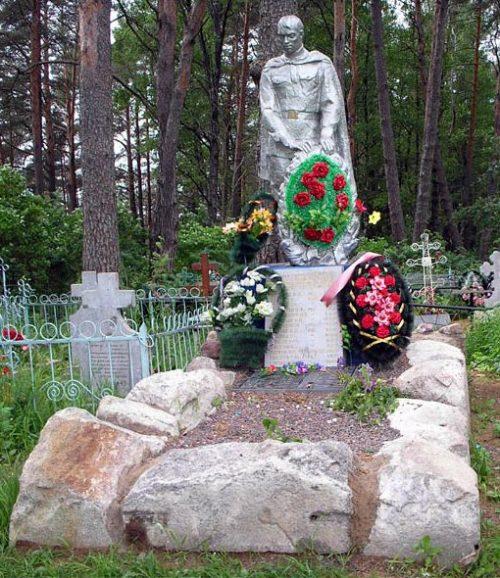 д. Бабье Спировского р-на. Памятник, установленный на братской могиле советских воинов.