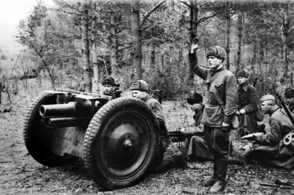 76-мм полковая пушка. 1941 г.