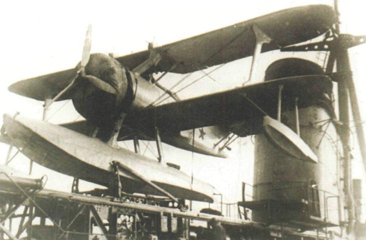Гидросамолет КОР-1 (Бе-2) на корабельной катапульте. 1940 г.