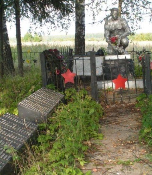 д. Зальково Ржевского р-на. Памятник, установленный на братской могиле советских воинов.