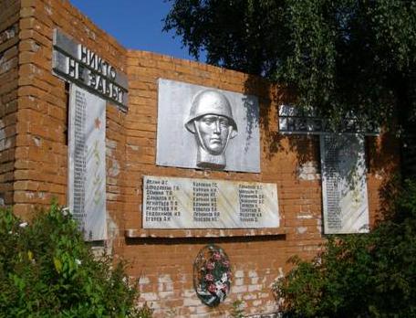 д. Андрейцево Молоковского р-на. Памятник погибшим землякам, установленный в 1988 году.