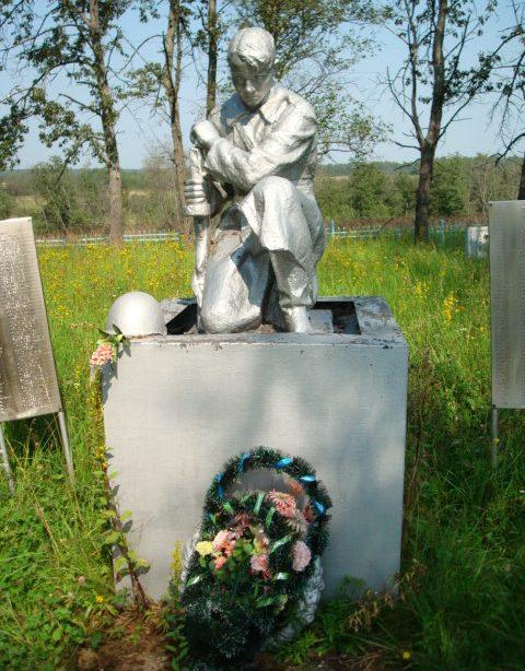 д. Новая Зубцовского р-на. Памятник, установленный на братской могиле советских воинов.